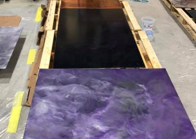 Epoxy Floor Sample Purple